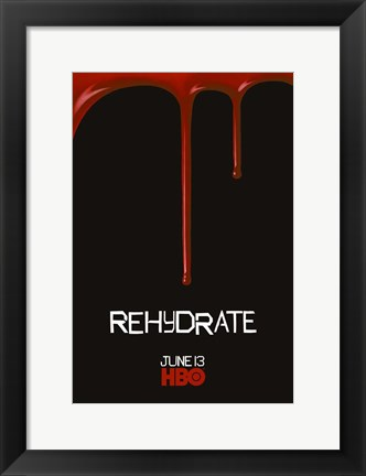 Framed True Blood Rehydrate Print