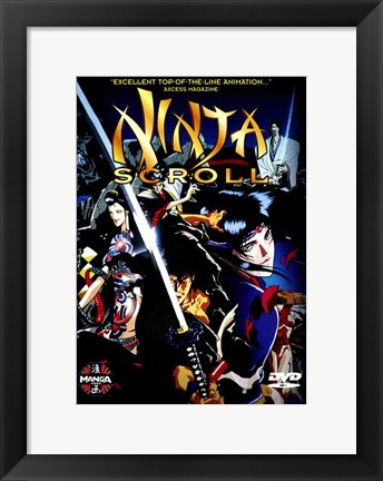 Framed Ninja Scroll Print