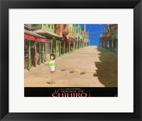 Framed Spirited Away (French Title) - empty town Print