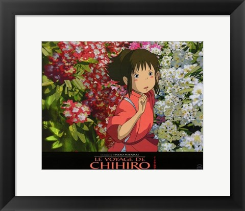 Framed Spirited Away (French Title) - flowers Print