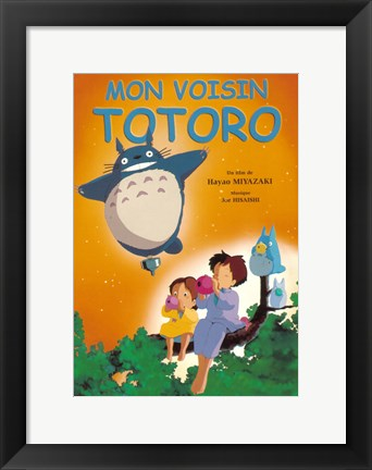 Framed My Neighbor Totoro (French Title) Print