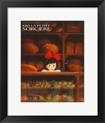 Framed Kiki's Delivery Service (French Title) Print