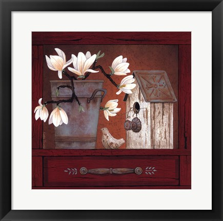 Framed Magnificent Magnolias Print