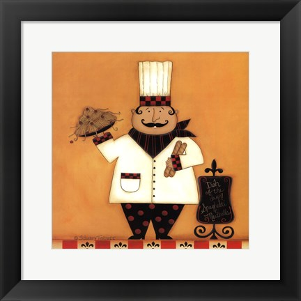 Framed Chef with Spaghetti Print