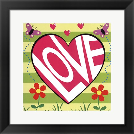 Framed Love Garden Print