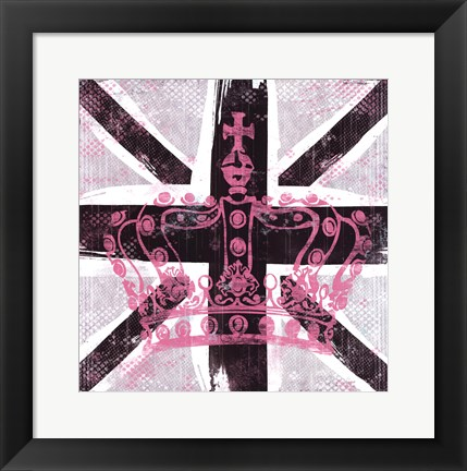 Framed Union Jack I Print