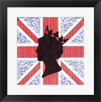 Framed Union Jack Queen Print