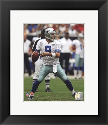 Framed Tony Romo 2010 football Print
