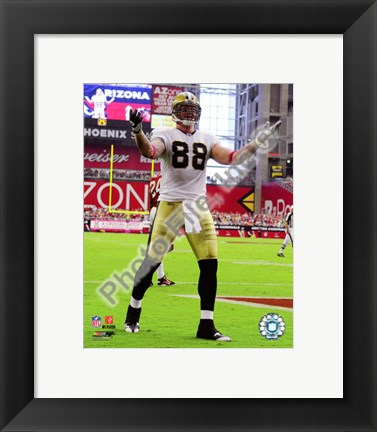 Framed Jeremy Shockey 2010 Action Print
