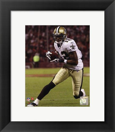 Framed Marques Colston 2010 Action Print