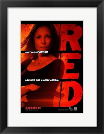 Framed Red Mary-Louise Parker Print