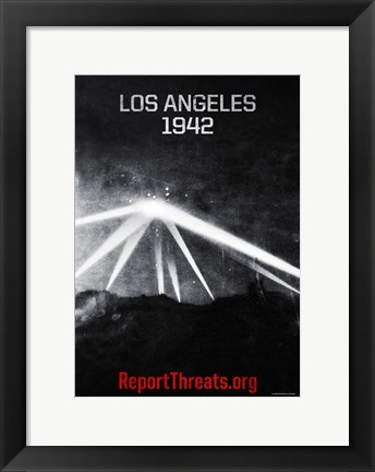 Framed Battle: Los Angeles 1942 Print