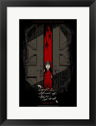 Framed Don't Be Afraid of the Dark Print