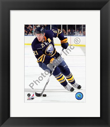 Framed Drew Stafford 2010-11 Action Print