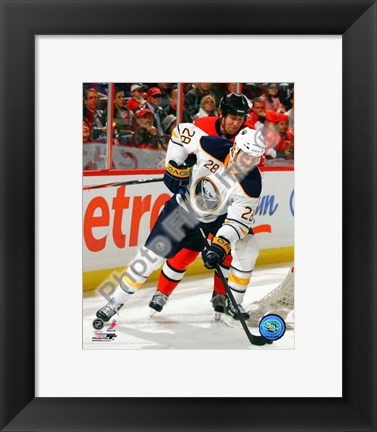 Framed Paul Gaustad 2010-11 Action Print