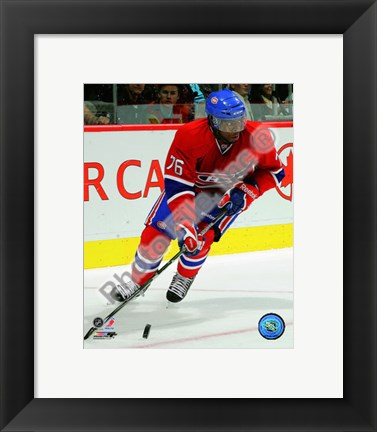 Framed P.K. Subban 2010-11 Action Print