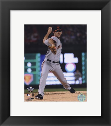 Framed Madison Bumgarner Game Four of the 2010 World Series Action Print