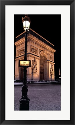 Framed Paris Nights I Print