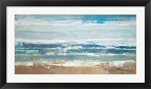 Framed Pastel Waves Print