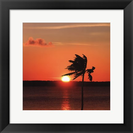 Framed Sunset Pier Print