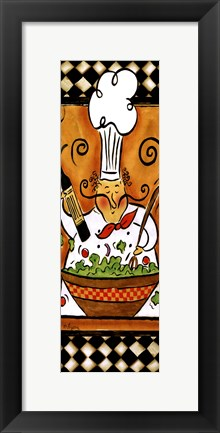 Framed Whimsical Chef III (salad) Print