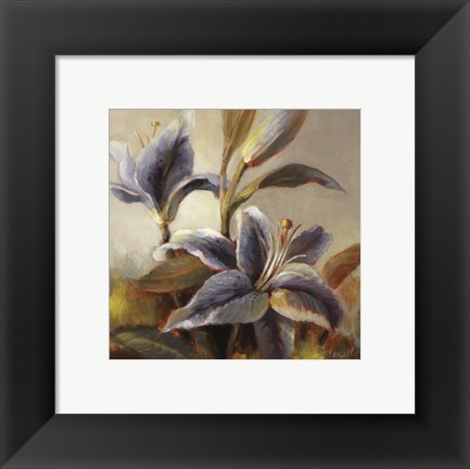 Framed Lilies After the Rain Print