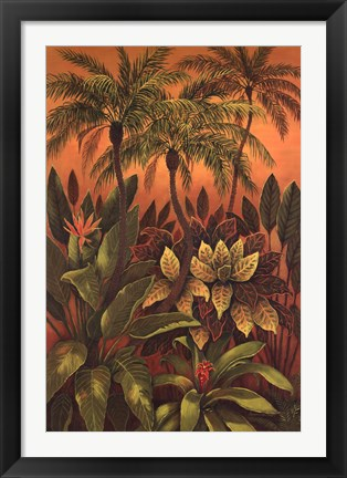 Framed Tropical Delight III Print