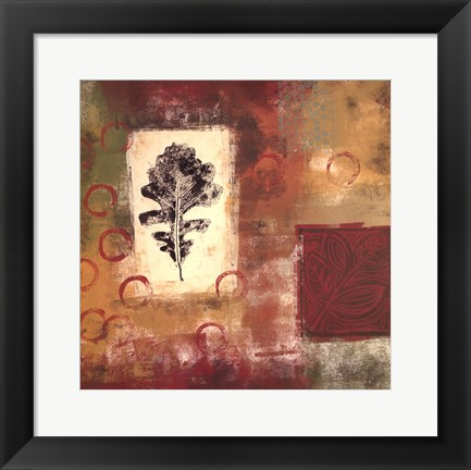 Framed Leaf Elements II Print