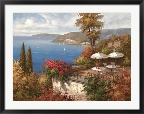 Framed Mediterranean Patio Print