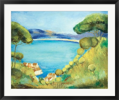 Framed Colors of Saint Tropez Print