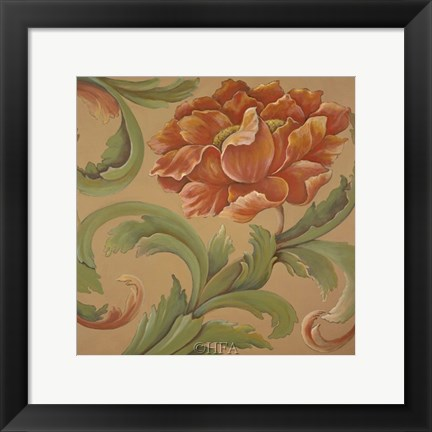 Framed Baroque Flower II Print