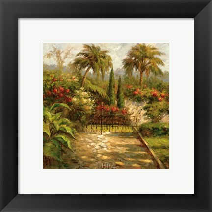 Framed Plantation Gate Print