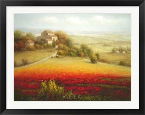 Framed Fields of Red and Gold I Print