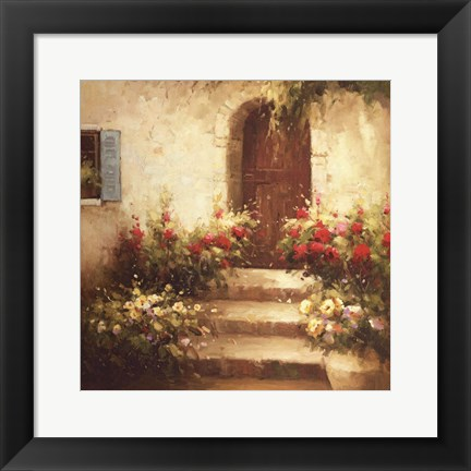 Framed Rustic Doorway I Print