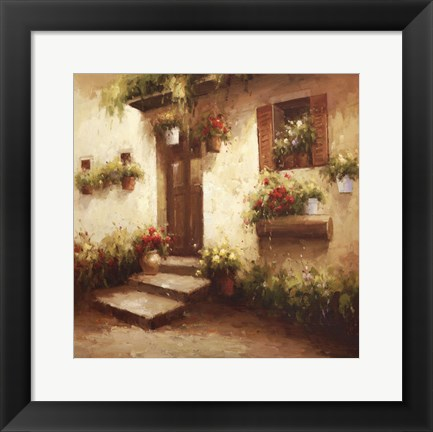Framed Rustic Doorway II Print