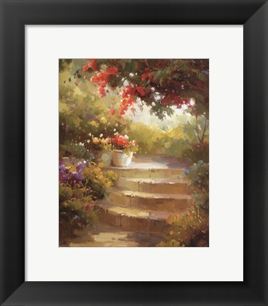 Framed Garden Steps Print