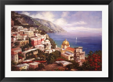 Framed Lake Como View Print