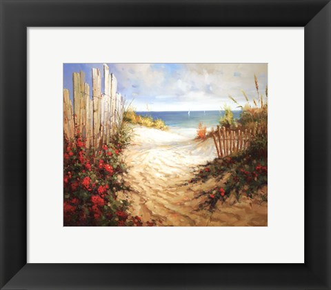Framed Seaside Pathway Print
