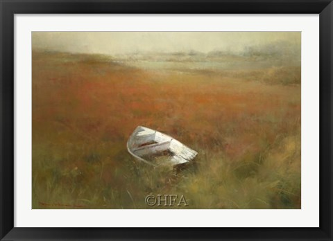 Framed White Skiff Print