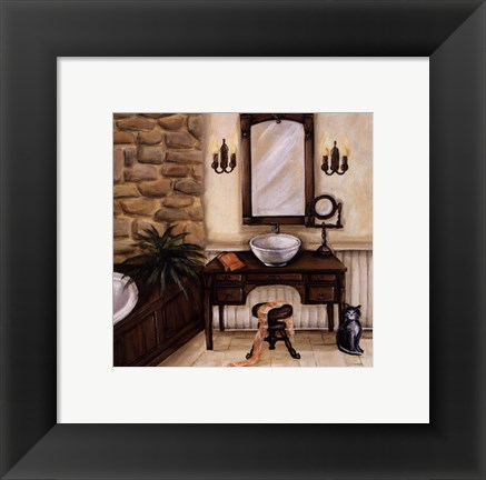 Framed Fireplace Escape II Print