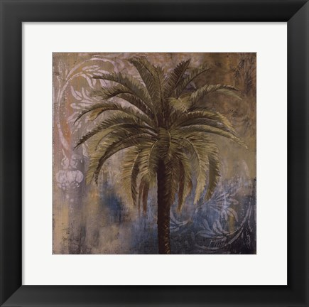 Framed Spring Palm I Print