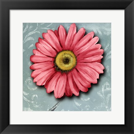 Framed Blooming Daisy IV Print