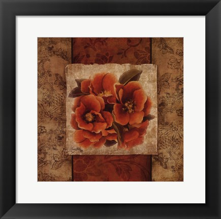 Framed Spice Flower I Print