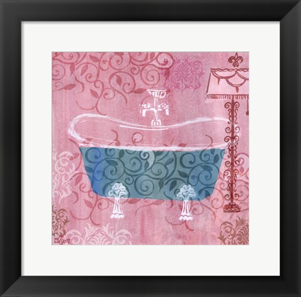 Framed Decorative Tub Print