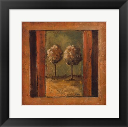 Framed Lonely Trees III Print
