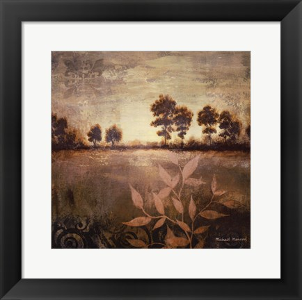 Framed Distant Season Square Print