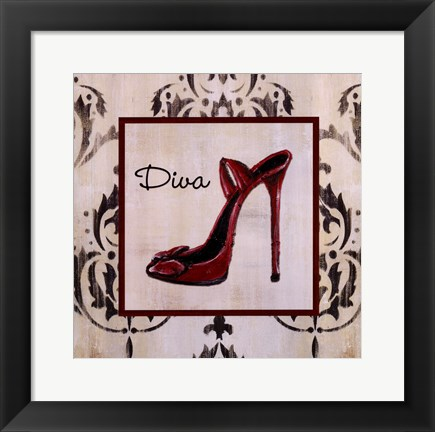 Framed Diva Shoe Print