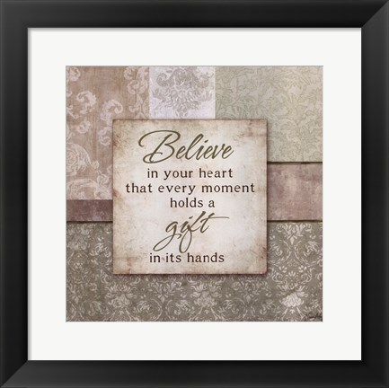 Framed Believe in your Heart Print