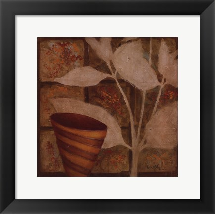 Framed Little Striped Vase II Print