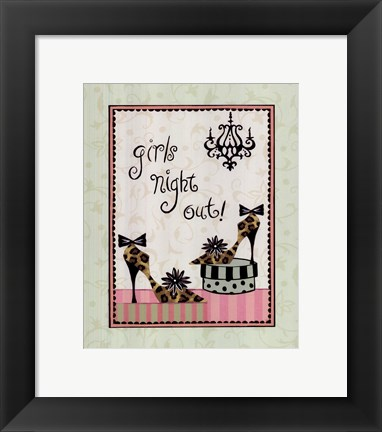 Framed Girls Night Out Print